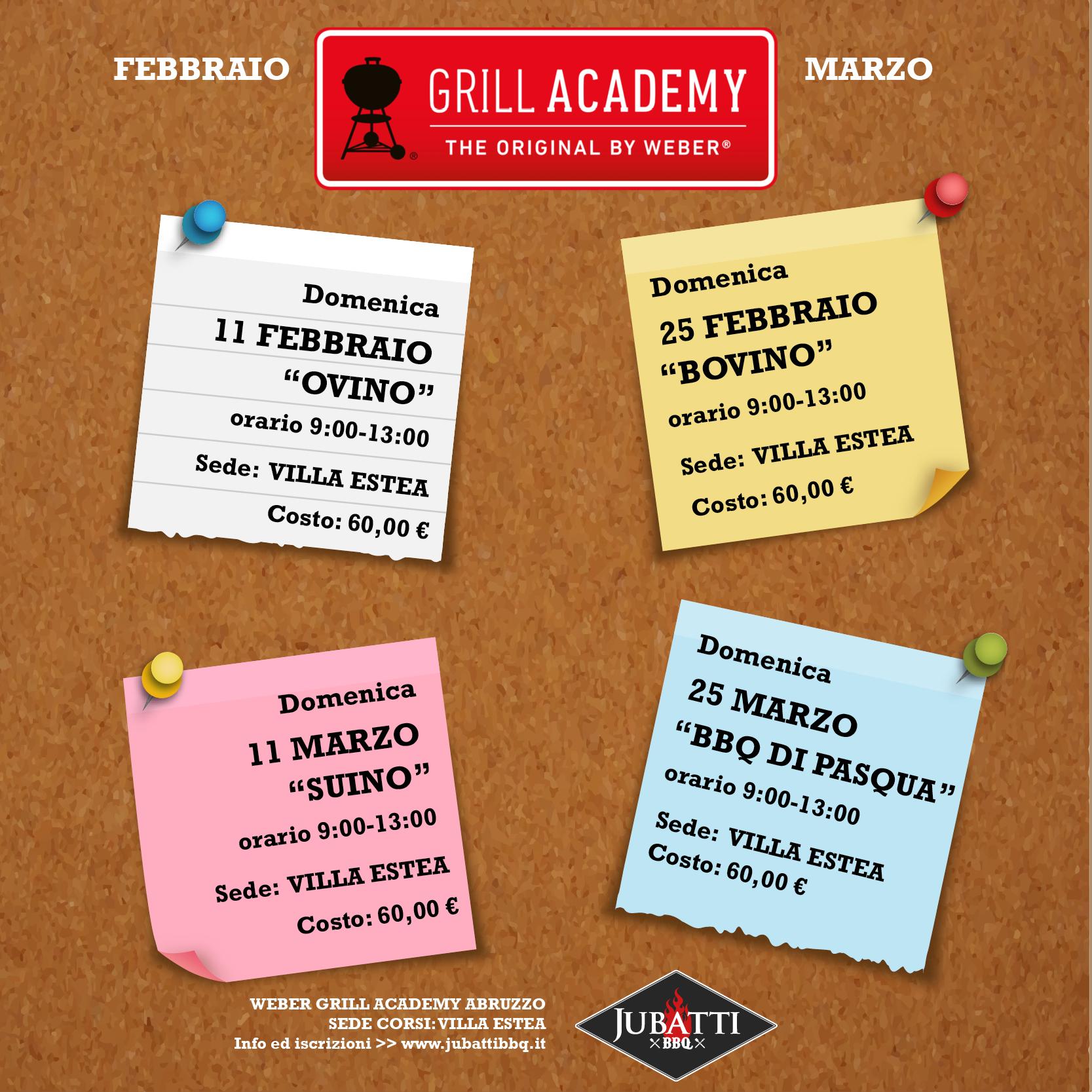Calendario Corsi.Calendario Corsi Barbecue Weber Grill Academy Abruzzo